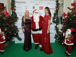Monika del Campo Bacardi and Sandrine Knoell-Monaco with Santa Claus at the Bal de Noel 2017 @ Laurent Ciavaldini BdN2017