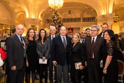 Prince Albert and Louisette Levy Soussan Azzoaglio and members of Action Innocence @Philippe Fitte