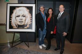 Prince Albert and Princess Stephanie with artist Mr One Teas@Frédéric Nébinger