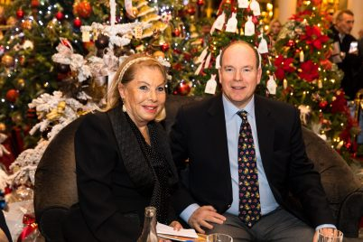 Prince Albert with Louisette Levy Soussan Azzoaglio @Philippe Fitte