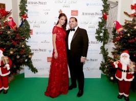 Sandrine Knoell-Garbagnati and the designer of her dress Ali Karoui @ Laurent Ciavaldini BdN2017