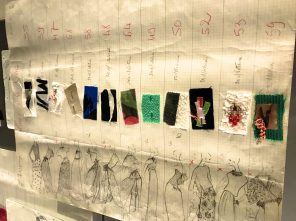 Fabric swatches at YSL's Studio @CelinaLafuentedeLavotha
