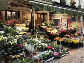 Flower shop on Rue Cler @CelinaLafuentedeLavotha