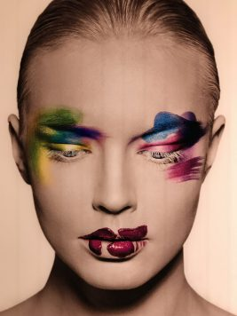 Photo of make up for one of the Dior fashion shows @CelinaLafuentedeLavotha