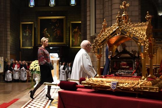 Princess Charlene during the St. Devote celebration 2018 ©Direction de la Communication:Charly Gallo
