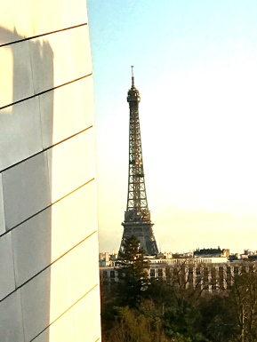 View of the Eiffel Tower from the Fondation Louis Vuitton @CelinaLafuenteDeLavotha