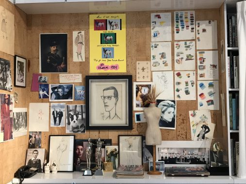 YSL's desk at his studio @CelinaLafuentedeLavotha