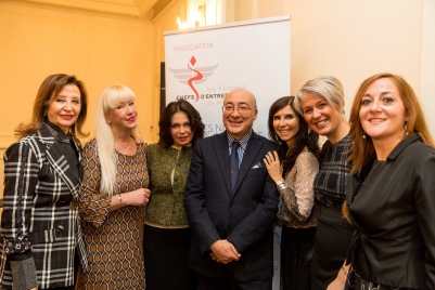 AFCEM members surrounding H.E. Cristiano Gallo, Ambassador of Italy in Monaco @Philippe Fitte