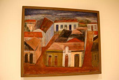 Alfredo Volpi, Facades, end 1940 Tempera on canvas @CelinaLafuentedeLavotha