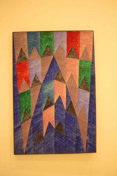 Alfredo Volpi, No title, 1970's, Tempera on Canvas, Private collection SP @CelinaLafuentedeLavotha