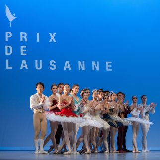 Competing dancers during the prize ceremony of Prix de Laussane 2018 @Pauline Daragon