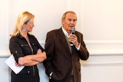 Hilde Haneuse-Heye and Jean Claude Eude, Honorary Consul of Latvia in Monaco @Philippe Fitte