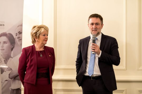 Marie-Christine Oghly and Philippe Ortelli President of FEDEM @Philippe Fitte