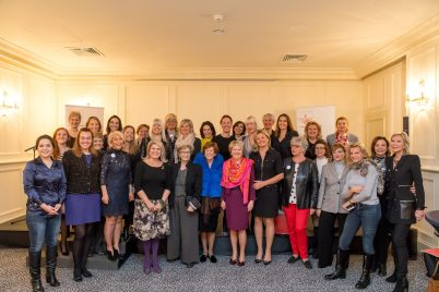 Members of AFCEM surrounding Marie-Christine Oghly and Hilde Haneuse Heye @Philippe Fitte