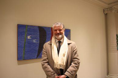 Pedro Machado Mastrobuono (son of Marco), President of the Insitute of Modern Art Alfredo Volpi @CelinaLafuentedeLavotha