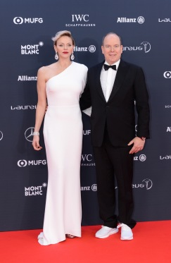Princess Albert and Princess Charlene at 2018 Laureus World Sports Awards in Monaco, February 27, 2018 @Christian Alminana/Getty Images for Laureus