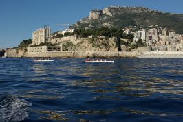 Racing past the Oceanographic Museum of Monaco during the Challenge Prince Albert II, 2018 @Olivier-Vincent Marechal