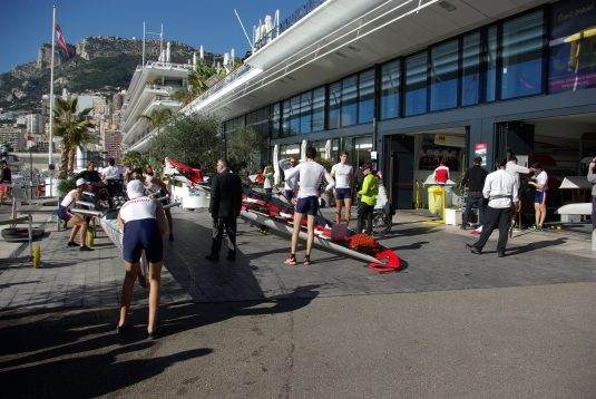 The Monaco team after the race @Olivier-Vincent Marechal