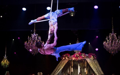Acrobats at the Grand Masked Ball of Venice in MC @GMBVMC