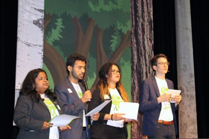 Felix Finkbeiner and members from the plant-for-the-planet team presenting the Trillion Trees campaign in Monaco 2018 @CelinaLafuentedeLavotha