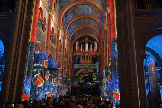 Multisensorial show at the Monaco Cathedral for Prince Albert's 60th birthday @Charly Gallo, DirCom