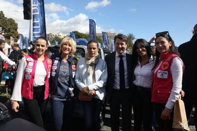Pauline Ducret, Dominique Serra, Princess Stéphanie of Monaco, Christian Estrosi Nice Mayor, Farida S. Bakkhouche and Schanel Bakkhouche RAG180317-Nice@Maienga