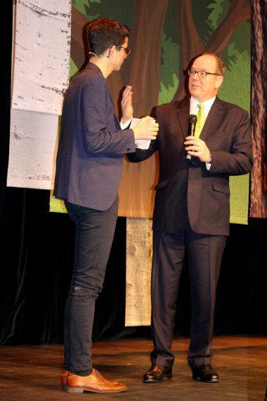 Prince Albert with Felix Finkbeiner launching the Trillion Trees Campaign in Monaco 2018 @CelinaLafuentedeLavotha