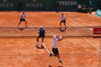 Bob and Mike Bryan vs Marach and Pavic doubles final at Rolex Monte-Carlo Masters 2018 @CelinaLafuentedeLavotha