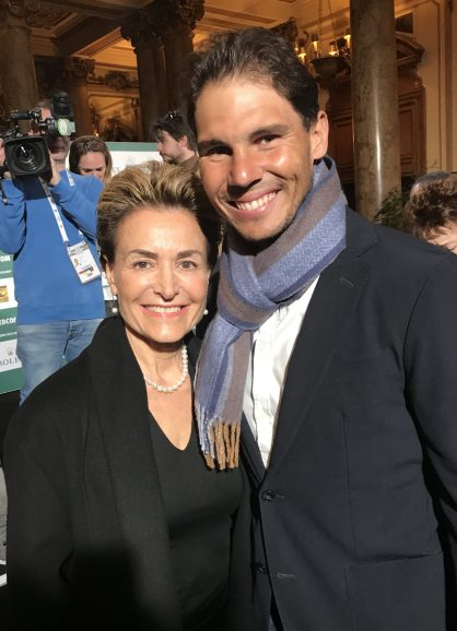 Celina with Rafael Nadal at the Singles Draw of the Rolex Monte-Carlo Masters 2018 @Benito Perez Barbadillo