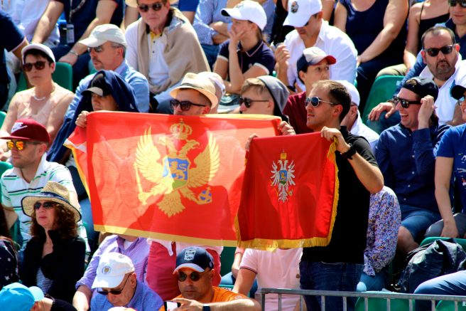 Djokovic's Serbian fans April 18, 2018 @CelinaLafuentedeLavotha