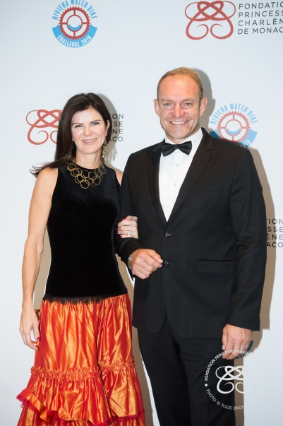 Mr and Mrs Francois Pienaar, rugby World Champion with Springboks.© Eric Mathon : Palais Princier.
