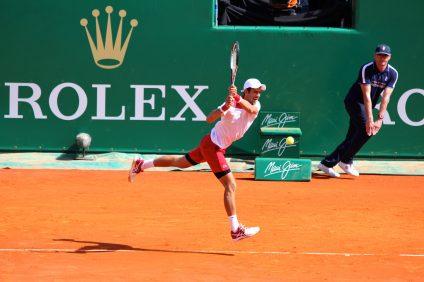 Novak Djokovic defeated countryman Dussan Lajovic April 16, 2018 RMCM @CelinaLafuentedeLavotha