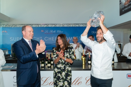 Prince Albert with culinary competition winner Pablo Albuerne @mesi-BD