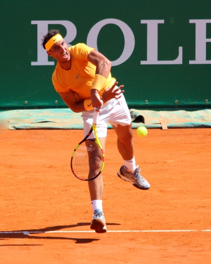 Rafael Nadal during the Final at Rolex Monte-Carlo Masters 2018 @CelinaLafuentedeLavotha
