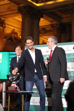 Rafael Nadal participating in the Draw of the top seeded players @CelinaLafuentedeLavotha