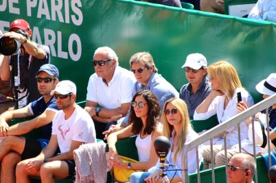Rafael Nadal's camp with his father, his sister, his girlfriend, trainer, agent and more @CelinaLafuentedeLavotha.