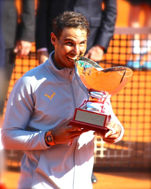 Rafal Nadal kissing his 11th trophy in Monte-Carlo! @CelinaLafuentedeLavotha