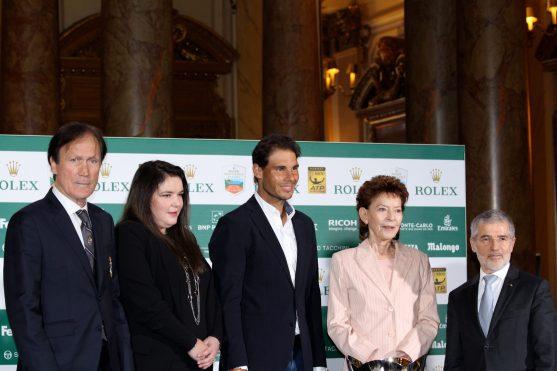 Zeljko Franulovic, Melanie Antoinette de Massey, Rafael Nadal, Elisabeth Anne de Massey and Patrice Cellario @CelinaLafuentedeLavotha