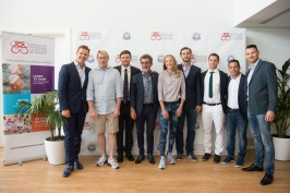 Rudi Keil, Rugby player, Mika Hakkinen, F1 World Champion, M. Gareth Wittstock, Eddie Jordan, Paula Radcliffe, Marathon Female World Record holder, Pierre Casiraghi, M. Olivier Jenot, Skier, Ludovic Giuly, French Champion and Winner of Football French Cup, Federico Vella, World Champion Kick Boxing K1 © Eric Mathon : Palais Princier