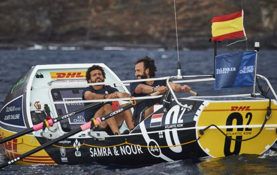 Egyptian pair Team 02 at the startline of the Talisker Whisky Atlantic Challenge CREDIT BEN DUFFY
