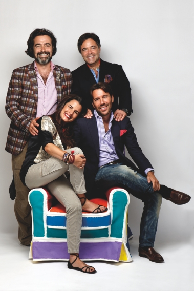 Kean Etro, Jacopo Etro, Ippolito Etro and Veronica Etro @Etro official portrait