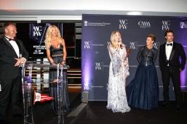 MCFW 2018 Fashion Award Winner Constanza Cavalli Etro, Celina Lafuente de Lavotha and Karl E. Landler @Daniel Guidetti
