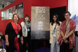 UNHCR Representatives attend IEFTA's Refugee Voices in Film presentation at DOC Corner Cannes70