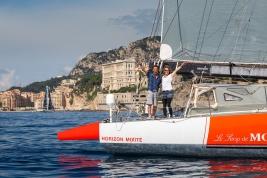 Alain Gautier and Isabelle Joschke arriving in Monaco June 7, 2018 MGS_2018@mesi_BD