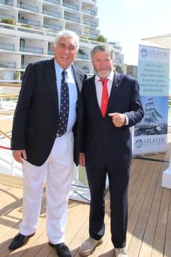 Bernard d'Alessandri with Irish skipper Enda O'Coineen @CelinaLafuentedeLavotha