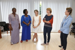 Caroline Obodji, Marcelline Assere, Chrystel Genoyer (Cooperation Internationale) and Veronique Tulle (CHPG) and Celina Lafuente de Lavotha@F. Nebinger