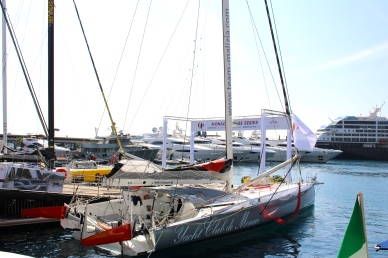 Malizia II skippered by Pierre Casiraghi and Boris Herrmann docked at the YCM @CelinaLafuentedeLavotha