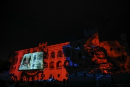Malizia projected onto the Palace facade©EdWrightImages_StJean18_0252