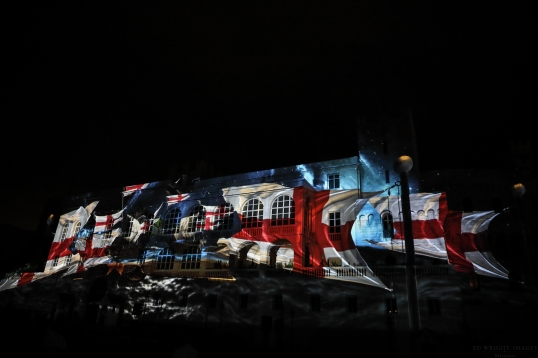 Powerful images projected onto the Palace©EdWrightImages_StJean18_0253
