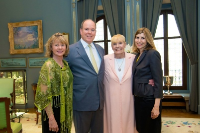 Prince Albert II of Monaco with Dawn Engle, Betty Williams and Claudia Abate at the Prince's Palace 2018@Gaetan LUCI / Palais Princier (2).jpg
